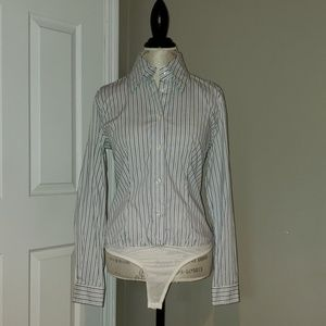 VS Button Down Bodysuit/Blouse
